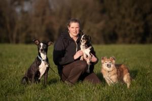 Eva Runkel, Trainer Mensch Hund mit Luna, Pupa und Benji